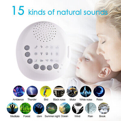 Mini Deep Sleep Machine White Noise Baby Therapy Solution 6 Peace Nature Sound Z
