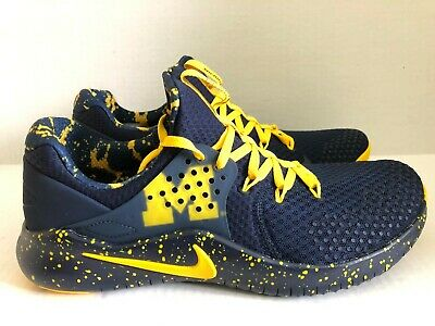 1972f24677c4a Nike Men s Sz 9.5 Free TR 8 Michigan College Edition Training Shoes AR0419  400