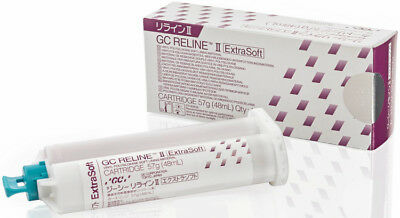 GC RELINE II EXTRA SOFT CARTRIDGE 57 gr. DENTAL LINING MATERIAL.