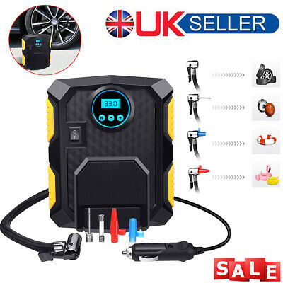 12V Electric Car 150PSI Tyre Inflator Portable Pump Digital Wheel Air Compressor