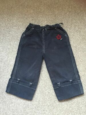 Next Boys Cropped Blue Trousers Age 3 Years