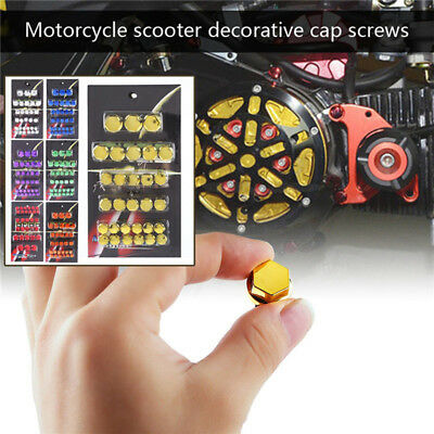30x Motorcycle Screw Nut Bolt Cap Cover Decoration Centro Motorbike Ornament_WK