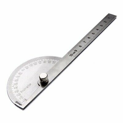 1pcs Stainless Steel 180 Degree Protractor Angle Ruler Rotary Measuring Tool US