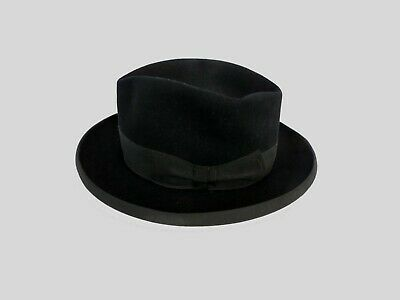 Black Vintage Homburg Hat by J.H. Ita, Vienna