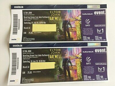 2 x Elton John Tickets am 01.06.2019 in Wiesbaden (Block E4)