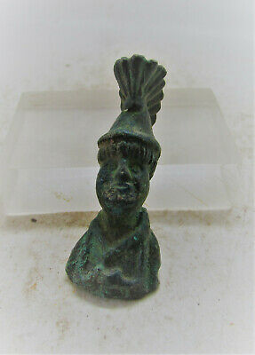 Circa 300-400Ad Roman Era Bronze Bust Of Soldier/Gladiator