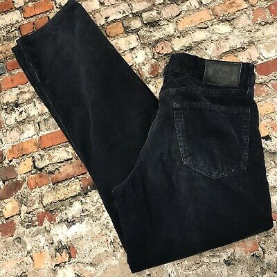 f83630927 HUGO BOSS MENS Jeans Vintage 90s Spell Out Wide Legs Loose Black Tag ...