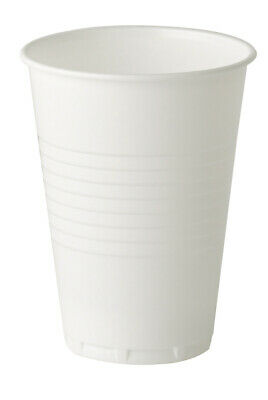 144 White Disposable Plastic Cup Strong 7oz/180ml Birthday BBQ Party Anniversary