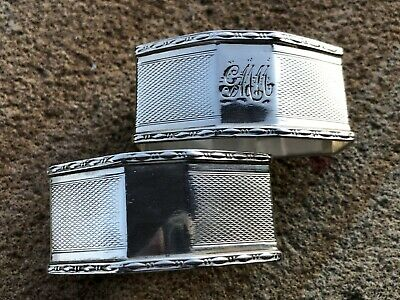 2 Sterling Silver Napkin Rings - Charles Perrry & Co - Chester - 1931