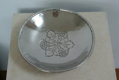 Vintage Hugh Wallis Stainless steel footed bowl signed