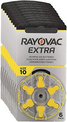 Rayovac Extra Hearing Aid Batteries Size 10 - 60 cells