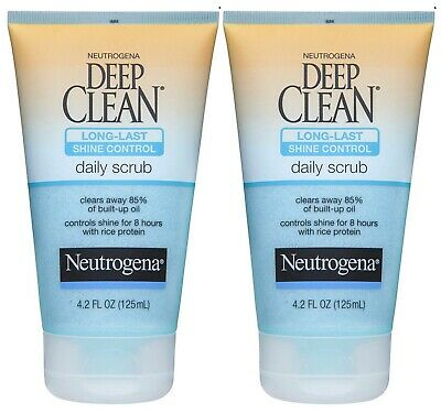 Neutrogena Deep Clean Long-Last Shine Control Daily Scrub 4.2Oz - 2 Pack