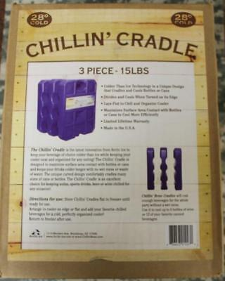 Arctic Ice 3-Pc Chillin' Cradle 5# High Performance Ice Pack 28°F Freeze Pt. NEW