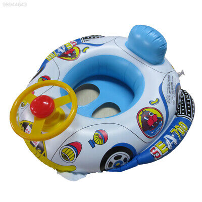 7DB7 Baby Inflatable Swim Float Boat Infant Chair Aid Trainer With Wheel Horn