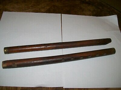 Antique flutes 2 with brass tips