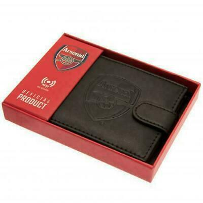 Arsenal F.C. Wallet RFID Anti Fraud Wallet ( Real Leather ) Gift Debossed Crest