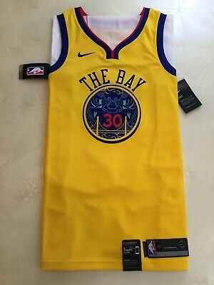 5427416deb27 NBA Golden State Warriors Steph Curry Nike Chinese New Year Jersey The Bay  NWT