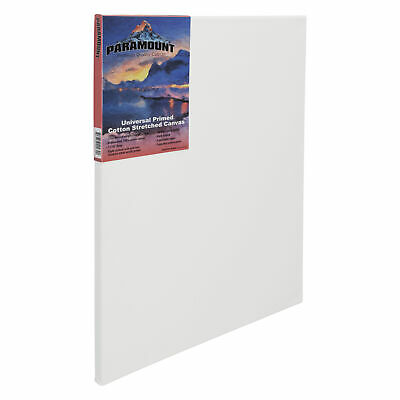 """Paramount Pre Stretched Canvas Professional Triple Primed 11/16"""" Acrylics Oils"""