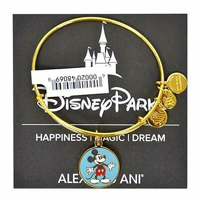 Disney Parks Authentic Alex and Ani Mickey Mouse Love Bracelet Gold - BRAND NEW