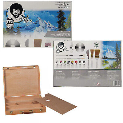 Bob Ross Master Oil Paint Set with Bundle Option for Royal Elm Carrying Case