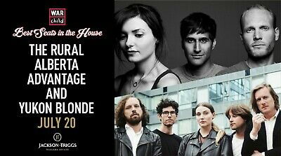 VIP Concert Experience w/Rural Alberta Advantage & Yukon Blonde - July 20, 2019