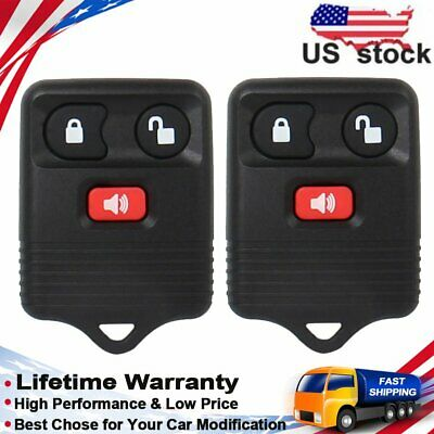 2pcs Keyless Entry Remote Control Key Fob For Ford Explorer Edge Ranger 2.3/4.0L