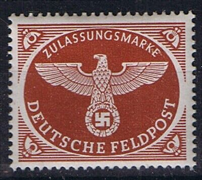 WWII German 3rd Reich FELDPOST Stamp Red Brown, Soldiers Mail Stamp, MNH
