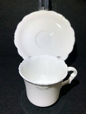Vintage / Antique Collingwood English China White Tea Cup & Saucer