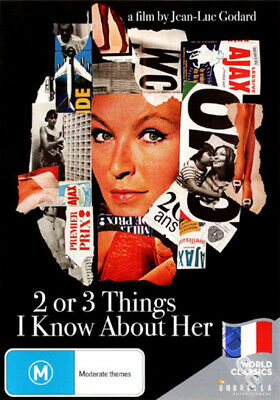 Two or Three Things I Know About Her NEW PAL Classic DVD Jean-Luc Godard