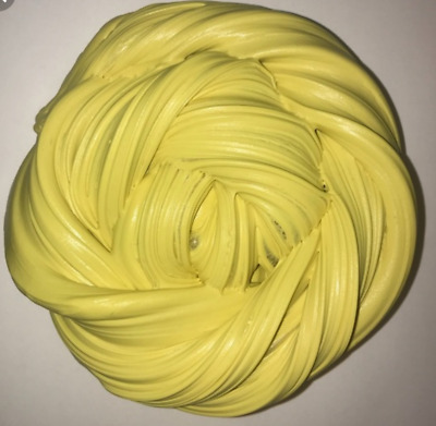 Butter Clay Slime UK Seller Yellow 4oz Fluffy Floam Putty Free Activator