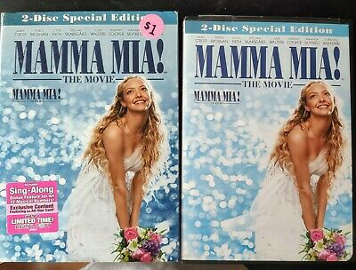Mamma Mia! The Movie DVD 2-Disc Special Edition Abba Musical with slip-case