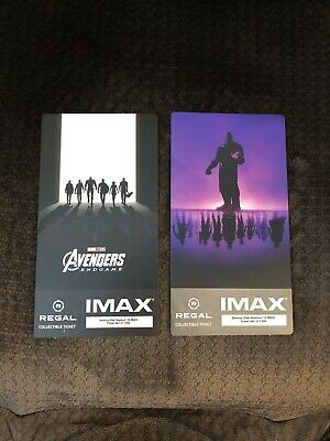 Avengers Endgame Collectible Week 1 & 2 Regal IMAX Tickets Excellent Condition