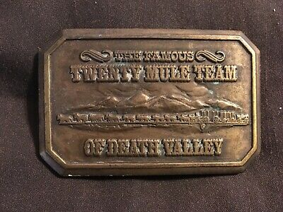 The Famous Twenty Mule Team of Death Valley Buckle