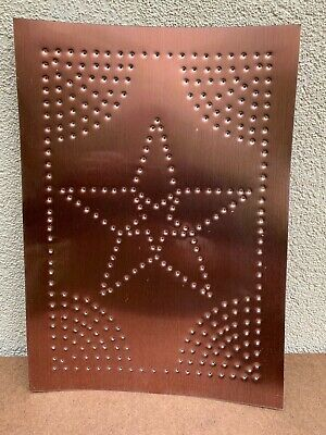 New Country Tin Metal  Punched  STAR Cabinet Panel