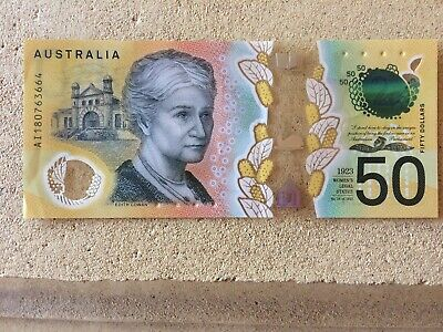Australian 50 Dollar Note 2018 with spelling errors