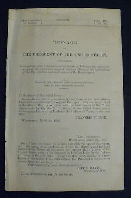FORT SMITH to SANTA FE Capt. R. B. Marcy 1856 Army Corps of Engineers Texas Map