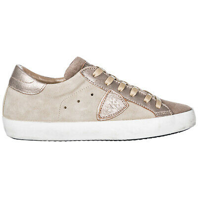 019be5990830 Philippe Model Women's Shoes Leather Trainers Sneakers New Paris Glitter  Gre F2A