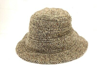 74ca6bca VTG John Hanly Tweed Bucket Hat 100% Pure New Wool Made In Ireland 7 1