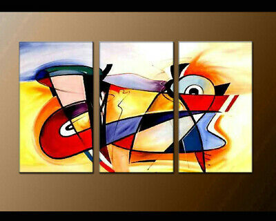 Large Modern Contemporary Colorful Abstract Musical OIL Painting Canvas Art Déco