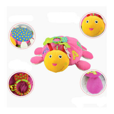 Cute Plush Tortoise Baby Rattle Toy Comfort Toy Doll Kid Bed Stroller Hanging BS