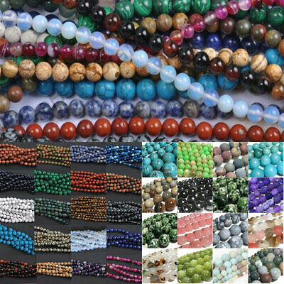 Wholesales Natural Gemstone Round Spacer Loose Beads 4mm/40PCS  Assorted Stones