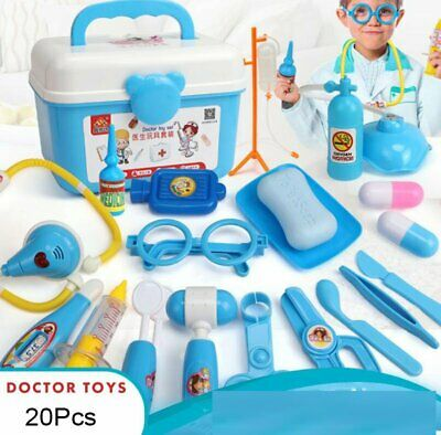 20-39Pc Doctor Medical Toy Set Nurse Carry truck Kid Role Play Pretend Box Case