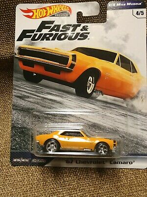 Hot Wheels 2019 Fast & Furious 1/4 Mile Muscle 67 Chevrolet Camaro