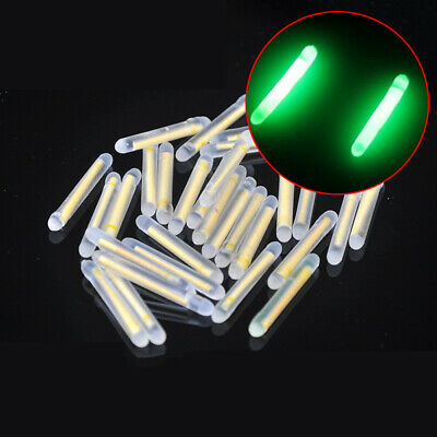 50Pcs Fishing Float Luminous Stick Night Fluorescent Light Glow Bobber Lure New