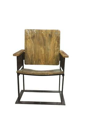 Vintage Industrial Single Seater Cinema Chair - Theater Chair - Solid Wood - Cas
