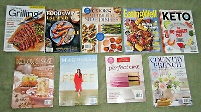 9 Recipe Cooking Home Magazines 2019 Brand New Free Shipping