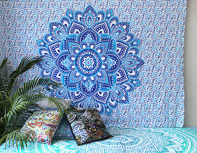 New Wall Hanging Tapestry Indian Ombre Mandala Cotton Hippie Tapestry Home Decor