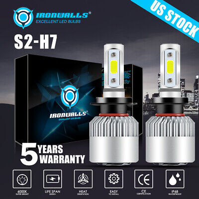 H7 LED Headlight Bulb 1700W 255000LM Kit High/Low Beam 6000K White Plug And Play