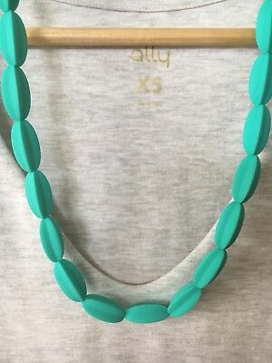 Silicone Necklace (was teething) Sensory Beads Jewellery Aus Gift Mum Turquoise