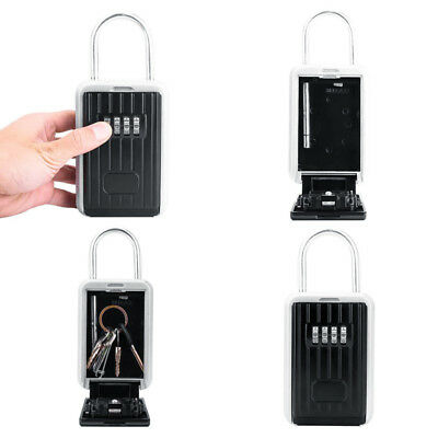 Outdoor High Security Wall Mounted Key Safe Box 4 Digit Code Secure Lock-Storage